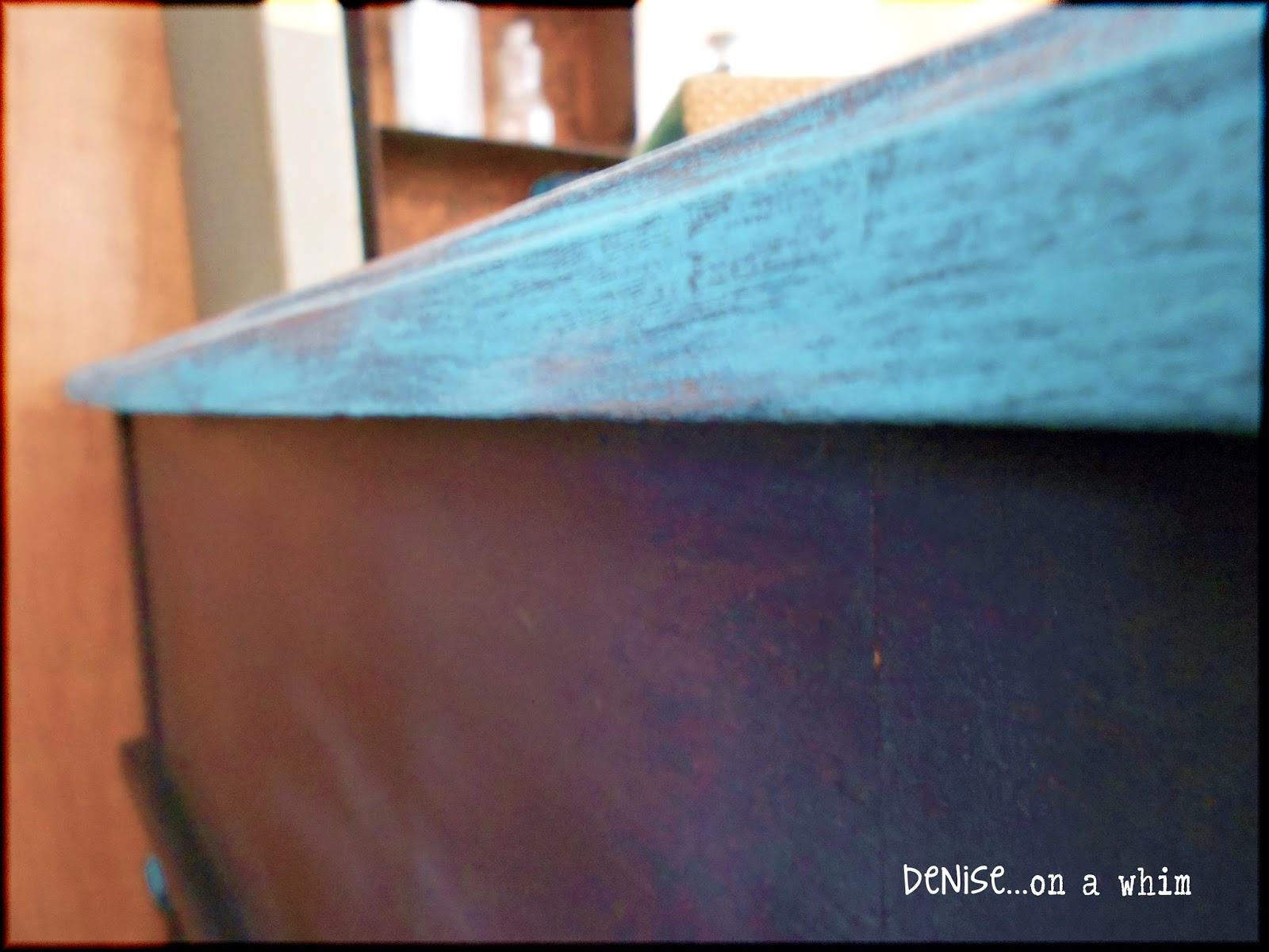 Beckley Coal Chalk Paint on an end table via http://deniseonawhim.blogspot.com