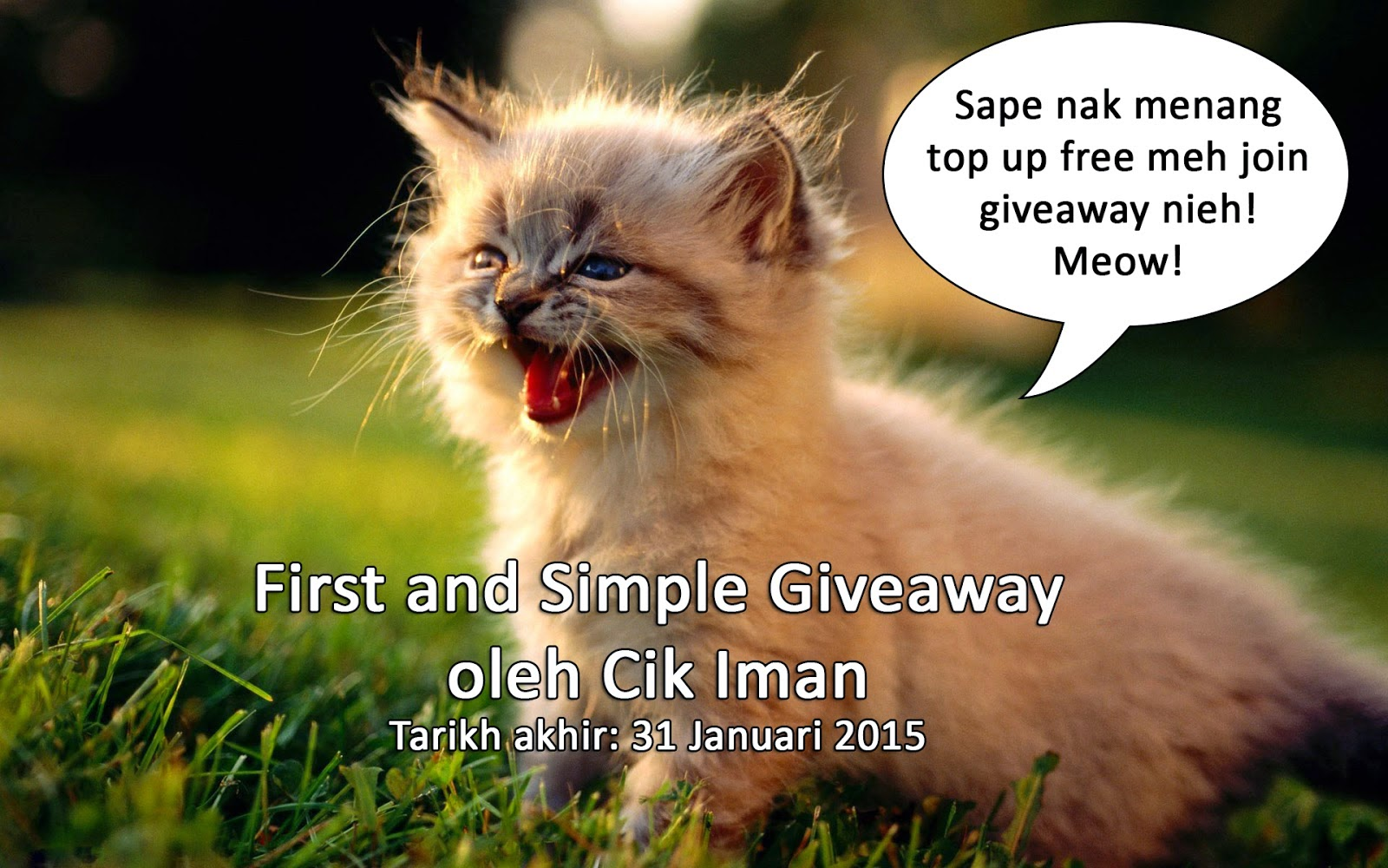 First and Simple Giveaway oleh Cik Iman