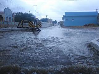 Boa chuva caiu em Parelhas nesta quinta-feira (24)