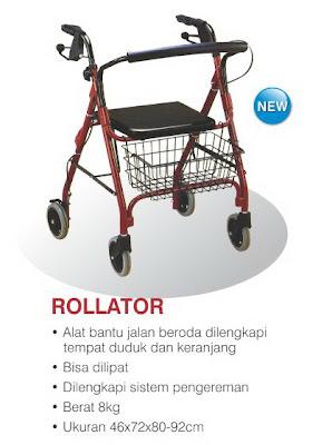 spesifikasi dan harga rollator walking aid