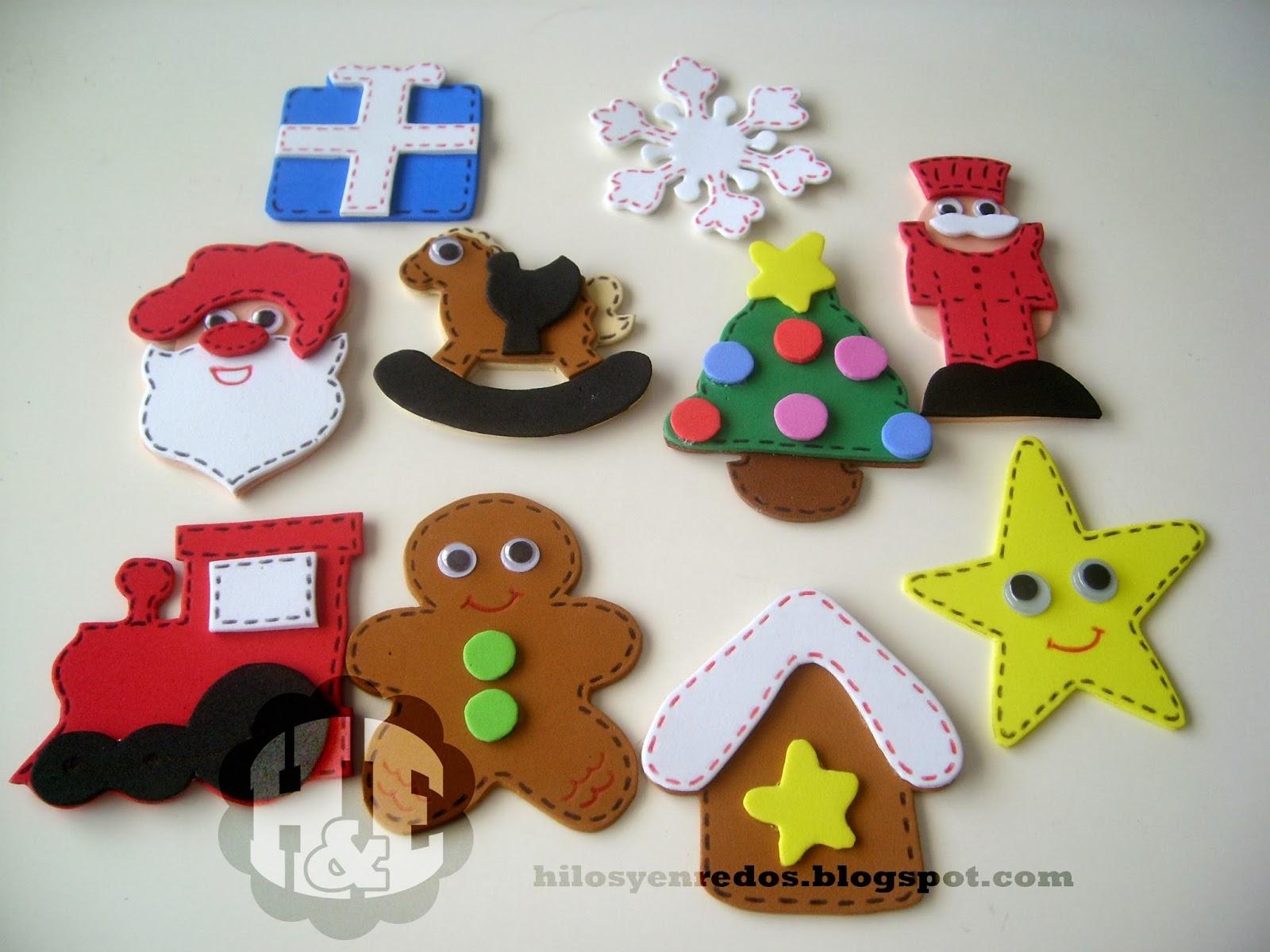 Adornos de navidad en goma eva imagui - Adornos colgantes de navidad ...