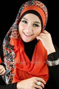 Nuhijab SSB Tribal - Tosca Orange (Toko Jilbab dan Busana Muslimah Terbaru)