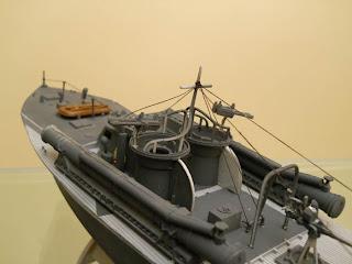 maqueta de lancha torpedera inglesa tipo Vosper