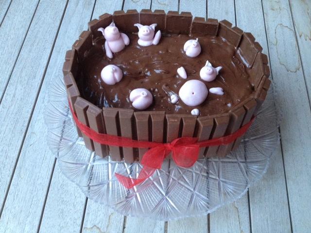 torta porcile di cioccolata