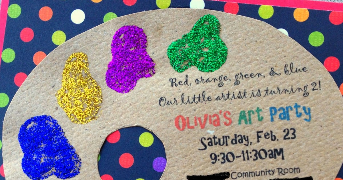 Olives Originals Art Party Invitations – Artist Party Invitations