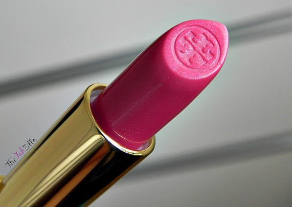 tory burch lip color just like heaven, review, swatch