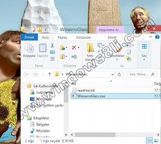 Windows 8 Aero Saydam Cam Efekti