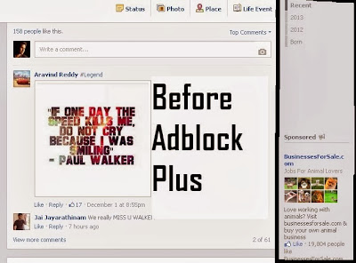 how to remove advertisements in facebook
