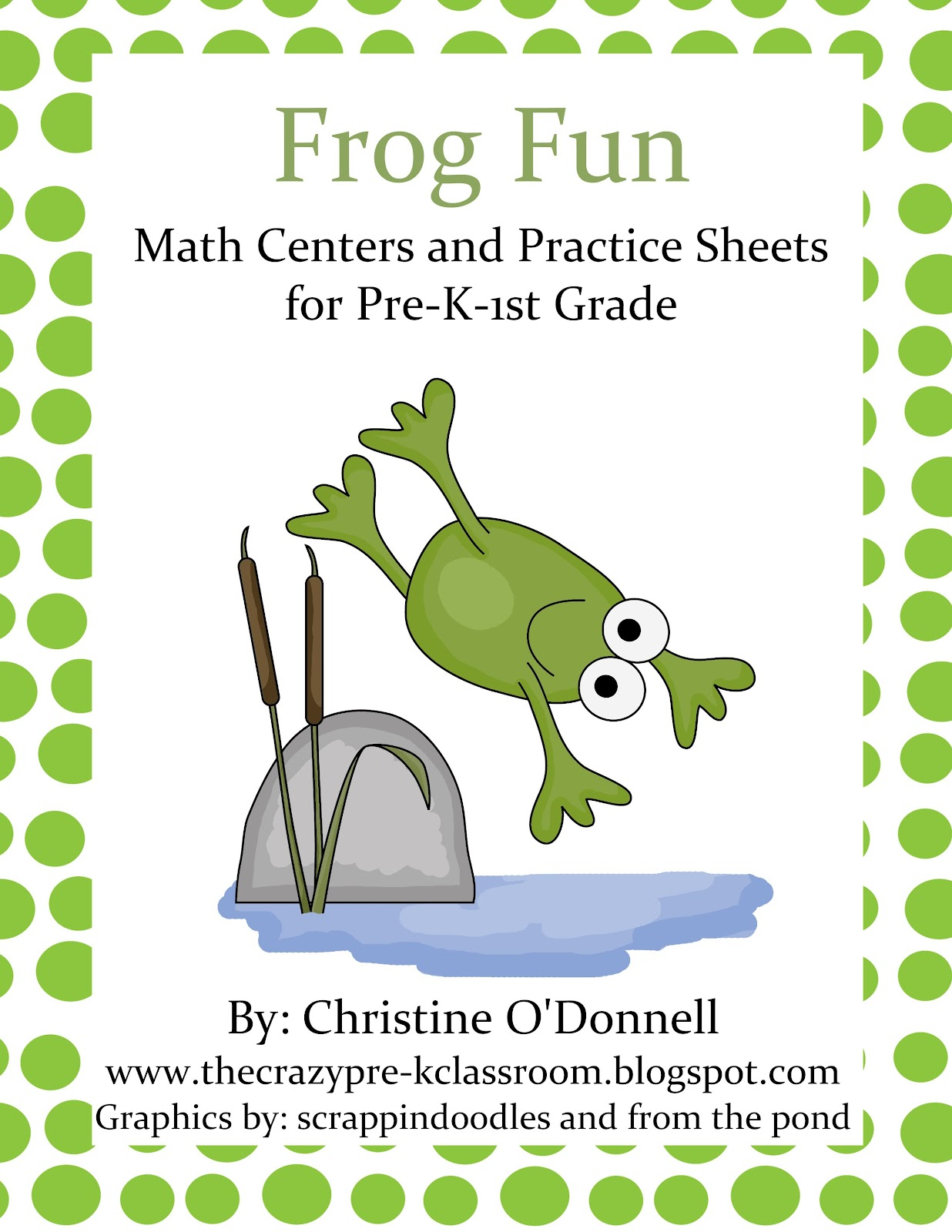 The Crazy Pre-K Classroom: Pond & Frog Math Centers! Fun with numbers!