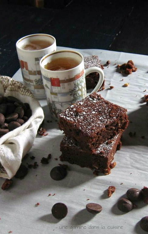 Spiced Guinness Brownies / une gamine dans la cuisine