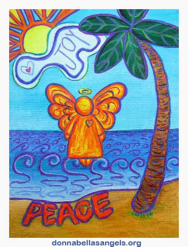 Joy & Peace Beach Angel Art Painting
