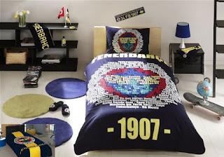 Taç Lisanslı Fenerbahçe Marşlı Logo Nevresim Takımı + Aksu Fenerbahçe Logo Battaniye Tek Kişilik