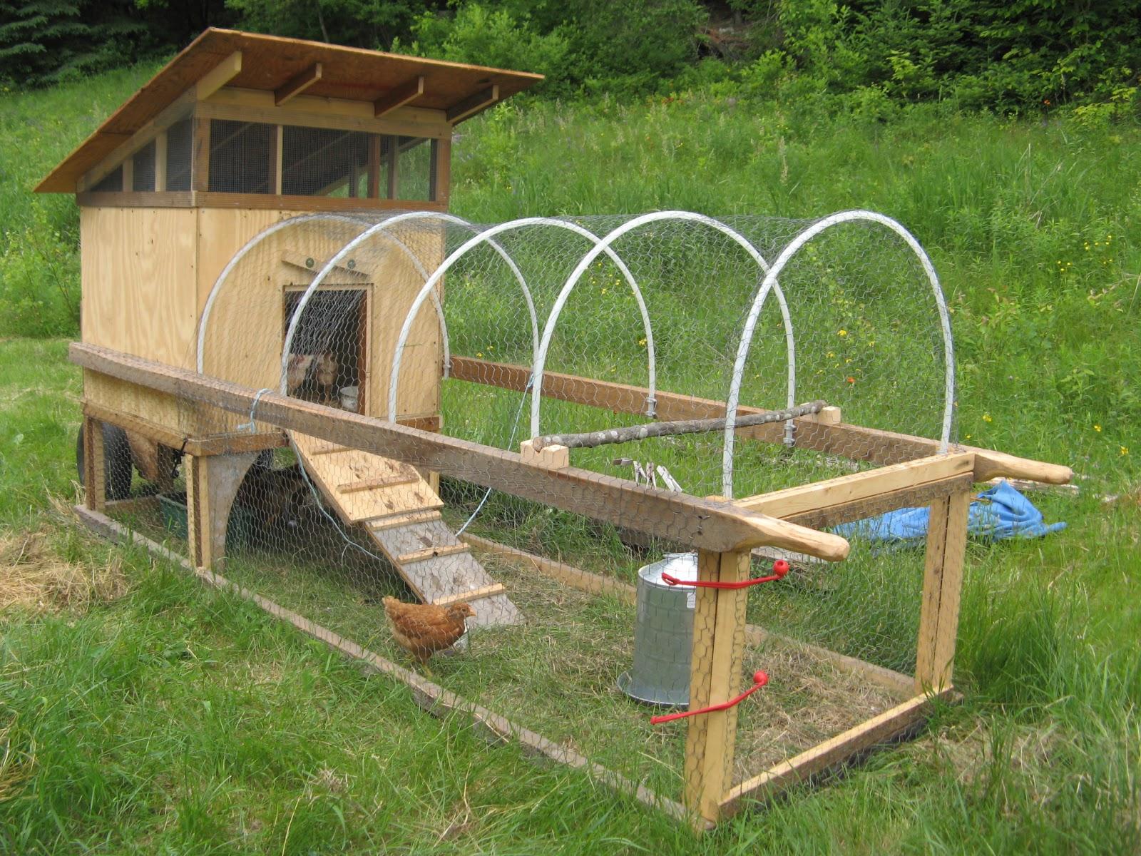 Chicken Tractors On Wheels : Animal instinct barn chicken tractor views