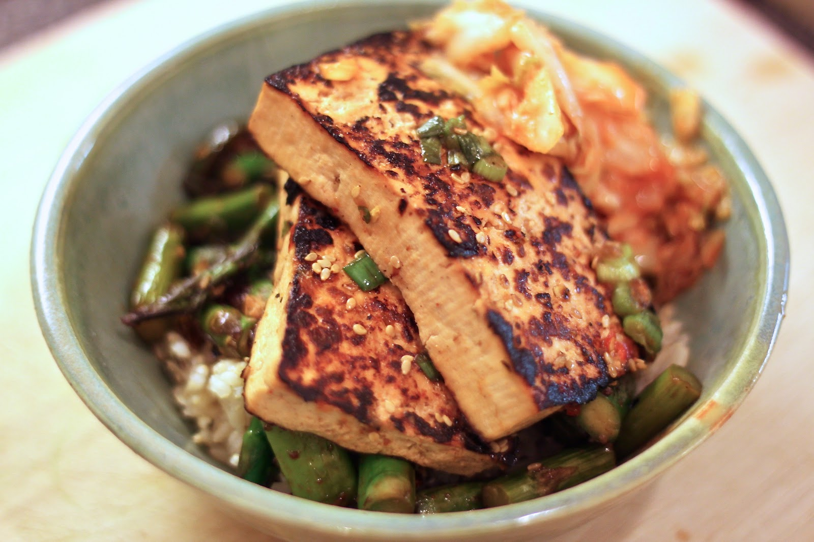 Jenessa's Dinners: Korean Tofu Rice Bowl