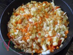 Pochar las verduras.