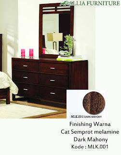 Contoh Furniture Semprot Melamine Dark Mahony