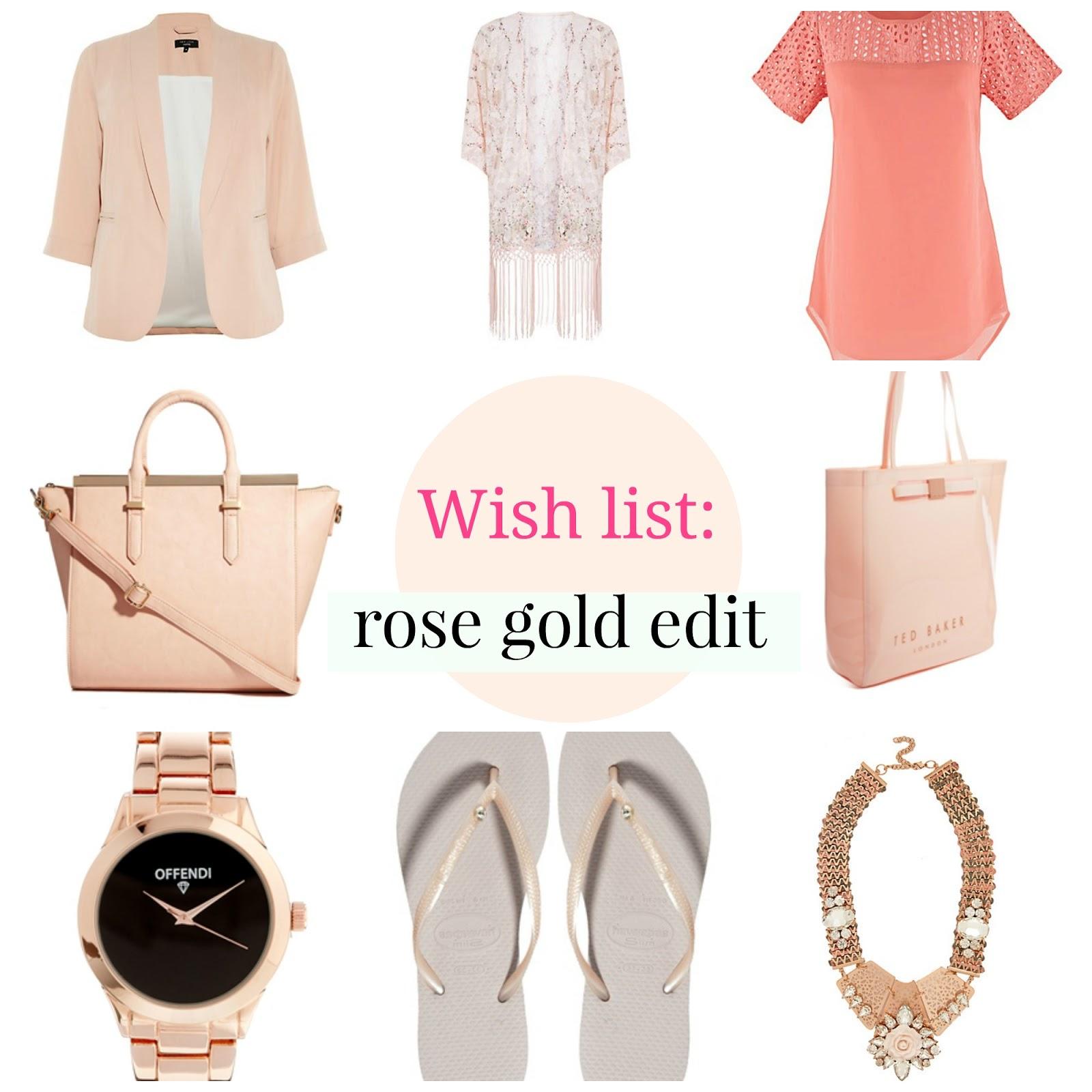 fashion wishlist plus size simplybe asos curve new look inspire rose gold havainas fendi celine