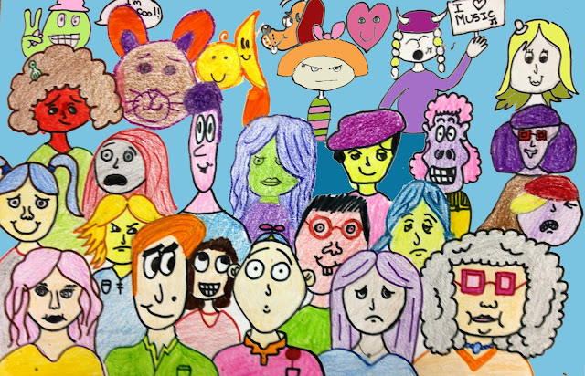 Diana+crowd+of+people+cartoon+inventory+of+facial+expressions The Helpful Art Teacher: MORE ON DRAWING FACES