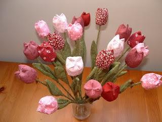 Textil tulipáncsokor