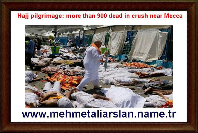 Hajj pilgrimage: more than 900 dead in crush near Mecca