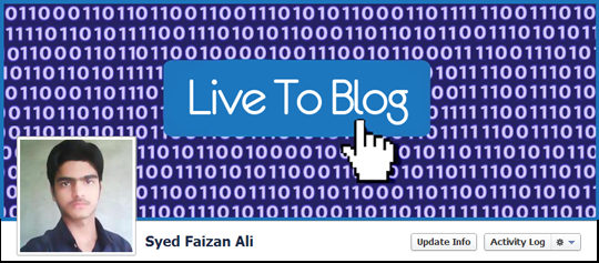 I Live To Blog Facebook Timline Cover