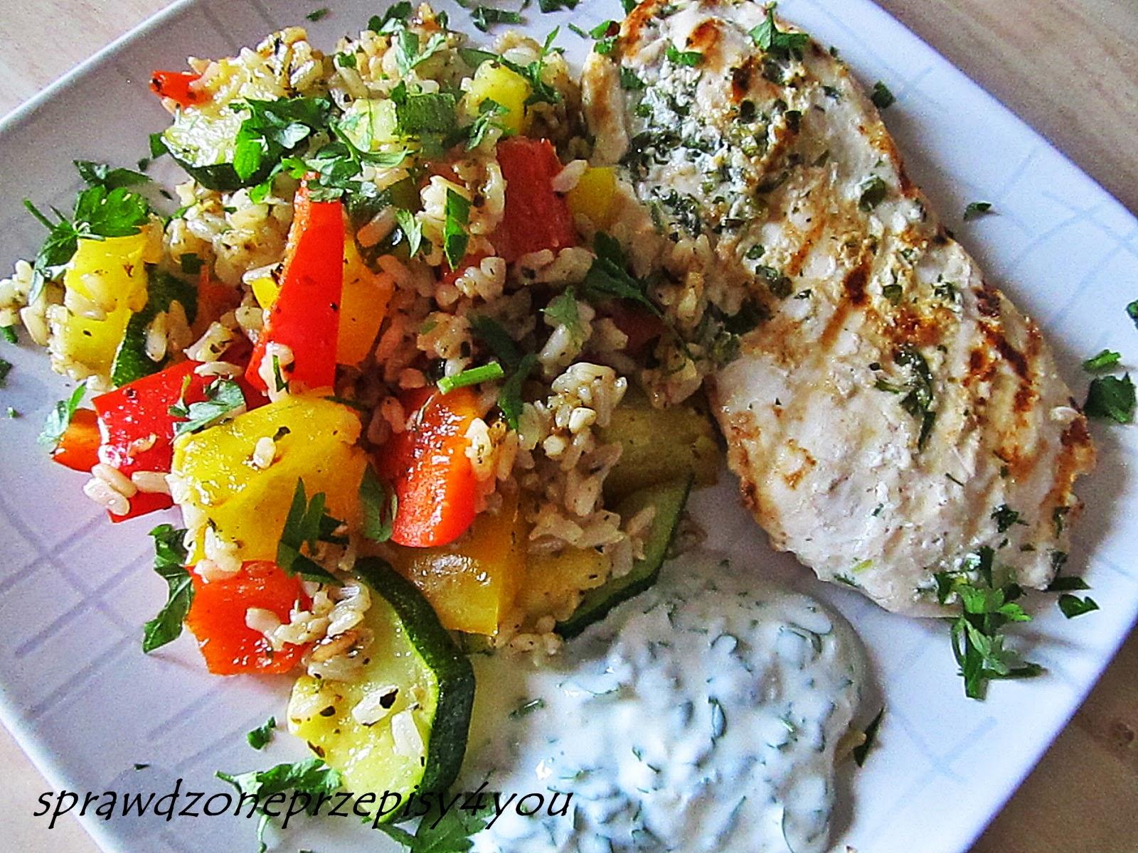 Moje Gotowanie Dietetyczny Obiad Piers Grillowana Z Warzywami I