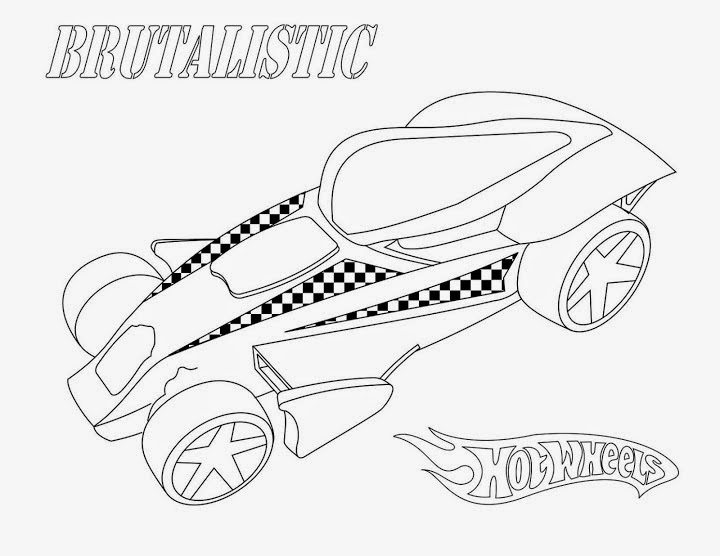 Hot Wheels Coloring Pages 49
