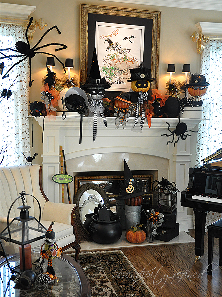 Serendipity Refined Blog Halloween Mantel Do You