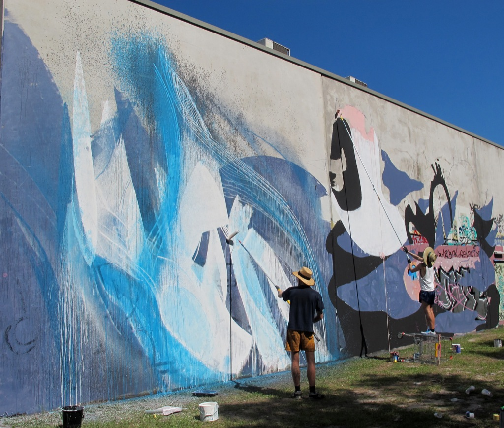 Shida x knarf new murals in brisbane kawana australia for Australian mural