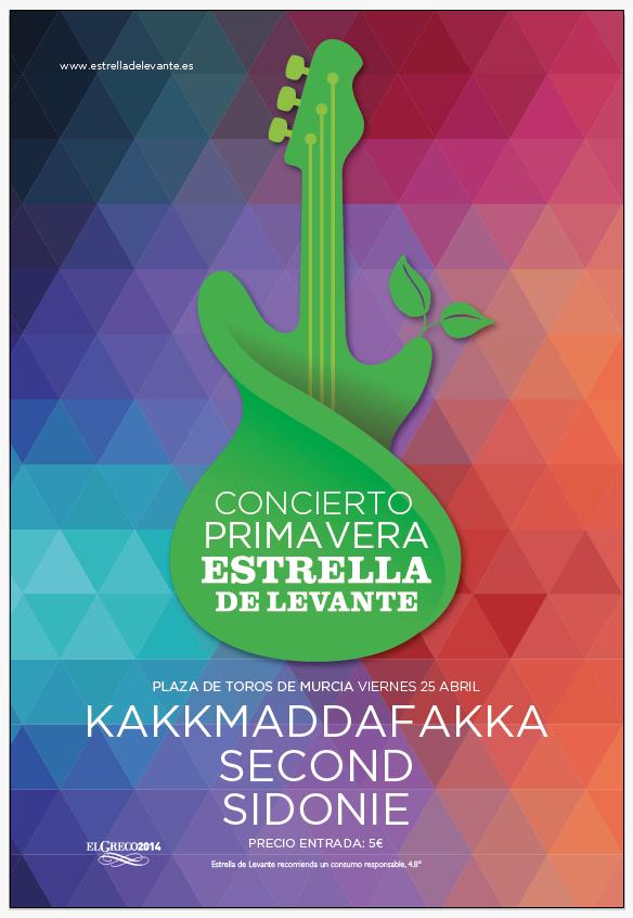 Programación de los conciertos 2014 en las fiestas de Primavera en Murcia