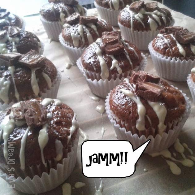 Backe, backe Kuchen: Mars-Walnuss Muffins