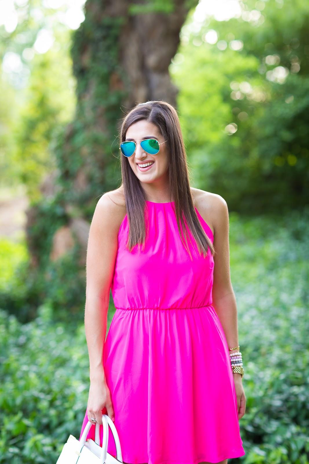Pink Skater Dress // A Southern Drawl