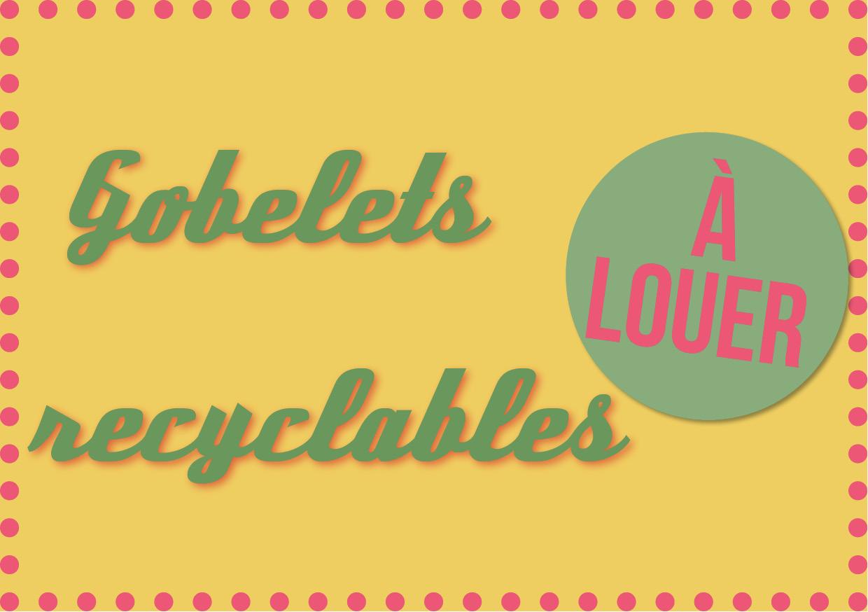 Toilettes sèches et gobelets à louer !