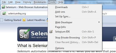 Tools - Selenium IDE