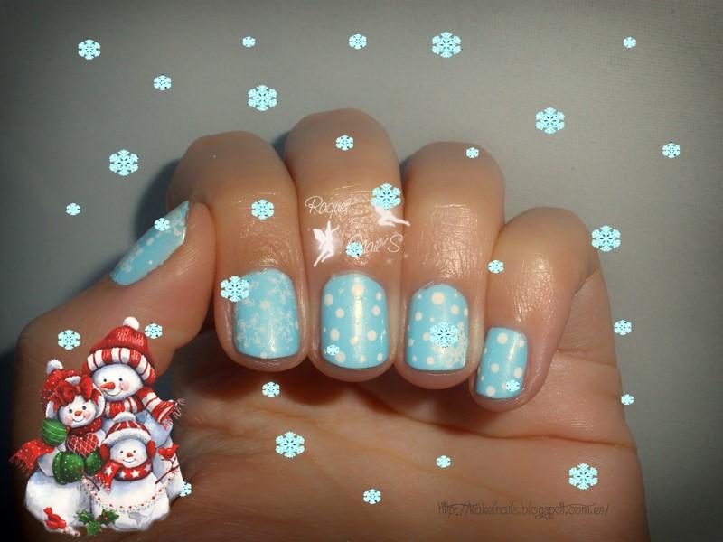 nail art pastel blue