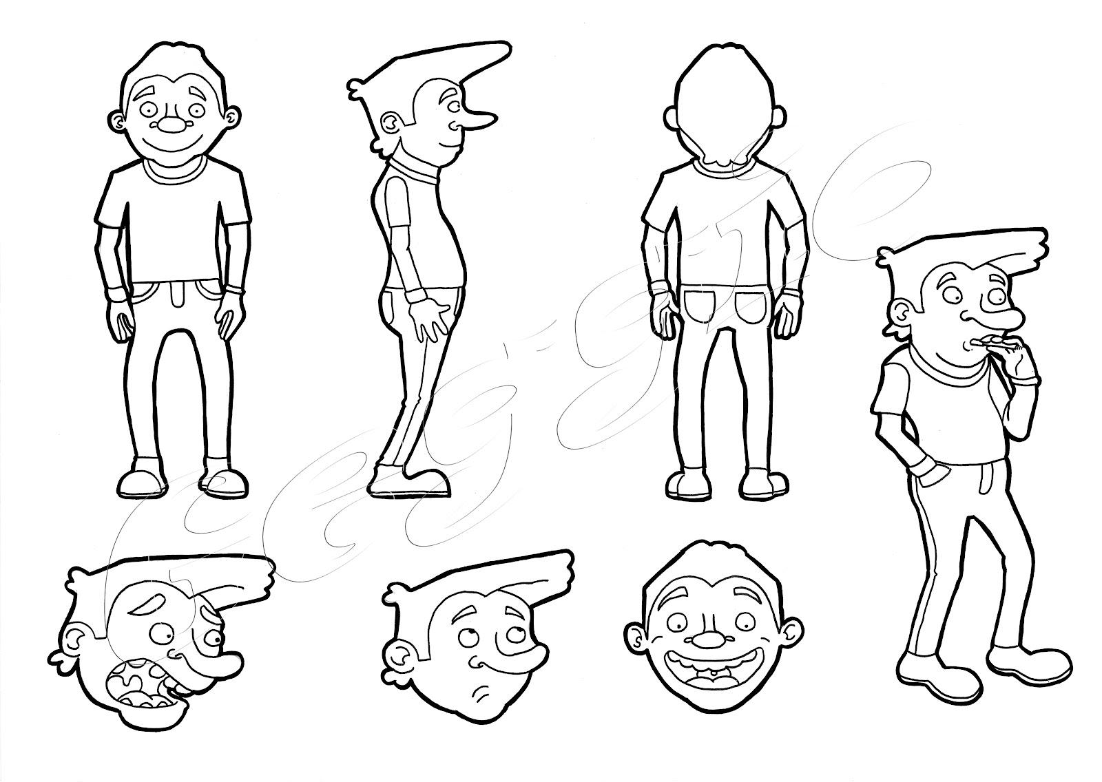 Diego banterle illustrazioni studi personaggi