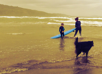 Surfing Lesson with Natalie Pepper, Spectrum Surf Camps, Bolinas, CA 