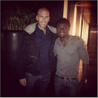 Photo; Obafemi Martins Excited To Meet Football Legend, Zinedine Zidane