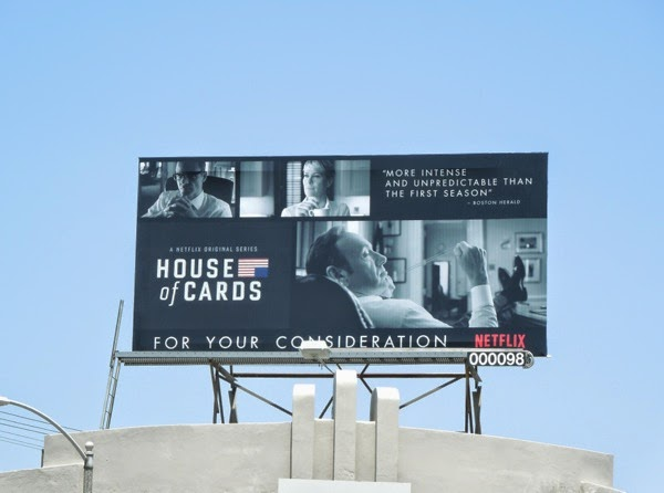 House of Cards season 2 Emmy Consideration 2014 billboard