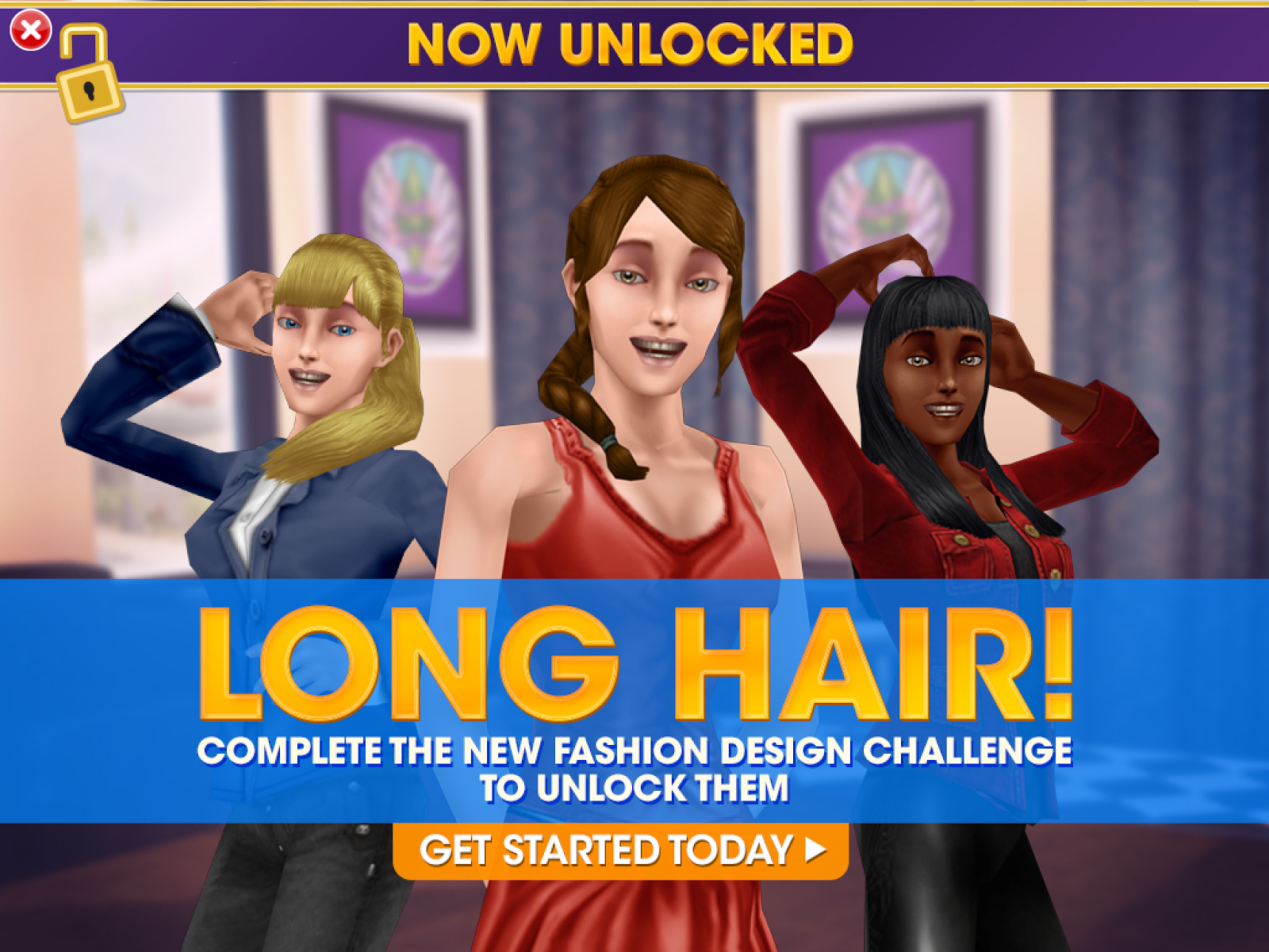 The sims freeplay long hairstyle - The Sims Freeplay Ringlets Of Fire Long Hair Quest Walkthrough Tips