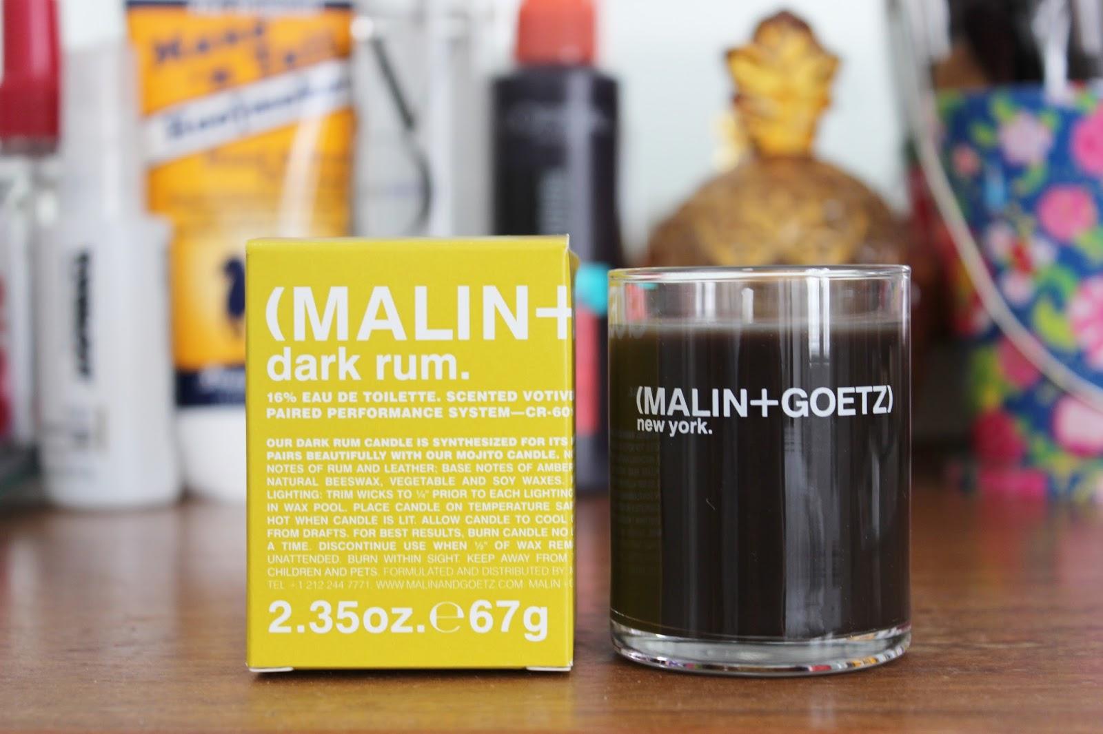 Malin + Goetz Dark Rum scented candle