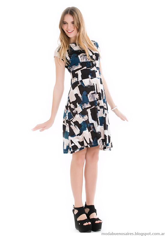 Vestidos cortos primavera verano 2015 City Argentina Moda.