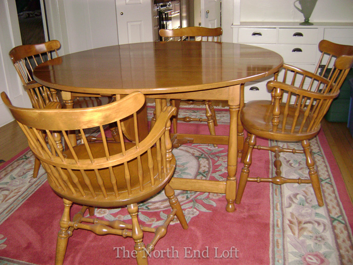 The north end loft taking the plunge refinishing dining room furniture - Refinish contemporary dining room tables ...