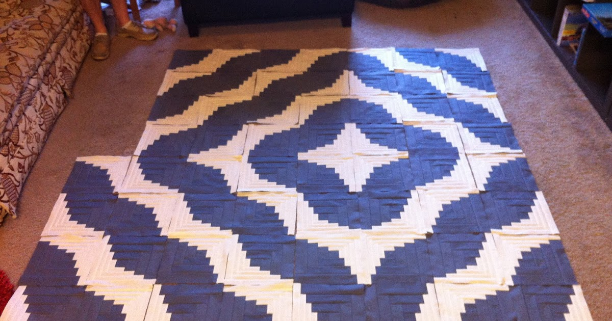 Bauer Handcrafted Curved Log Cabin Quilt And Drawstring Bag