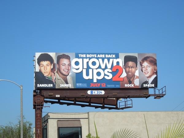 Grown Ups 2 movie billboard