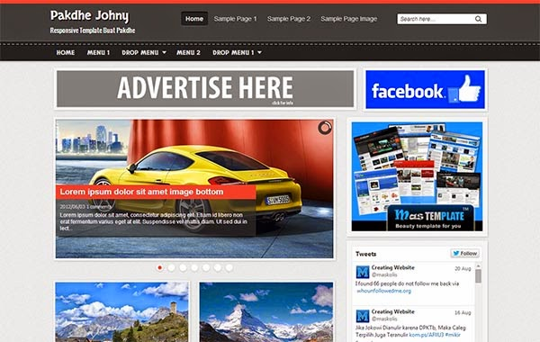 Pakdhe Johny Responsive Blogger Template