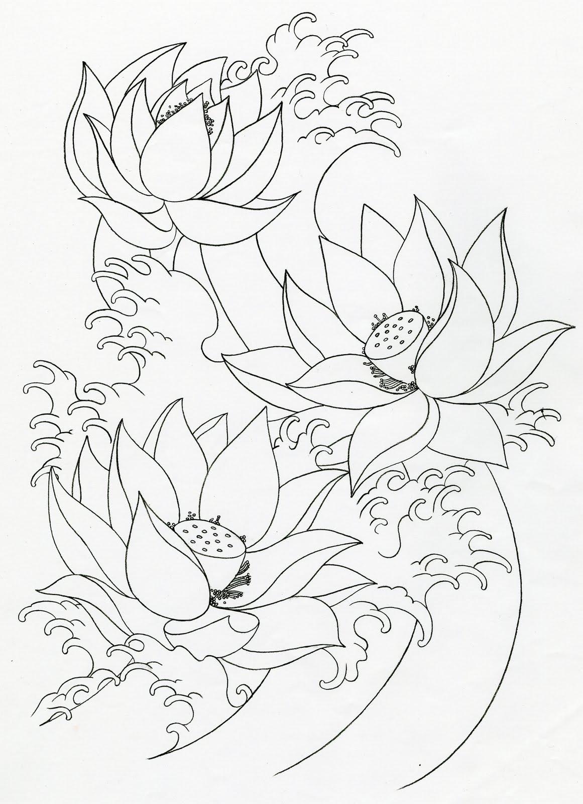 Mike's TATTOO design: Lotus