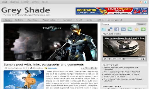Grey Shade Blogger Template