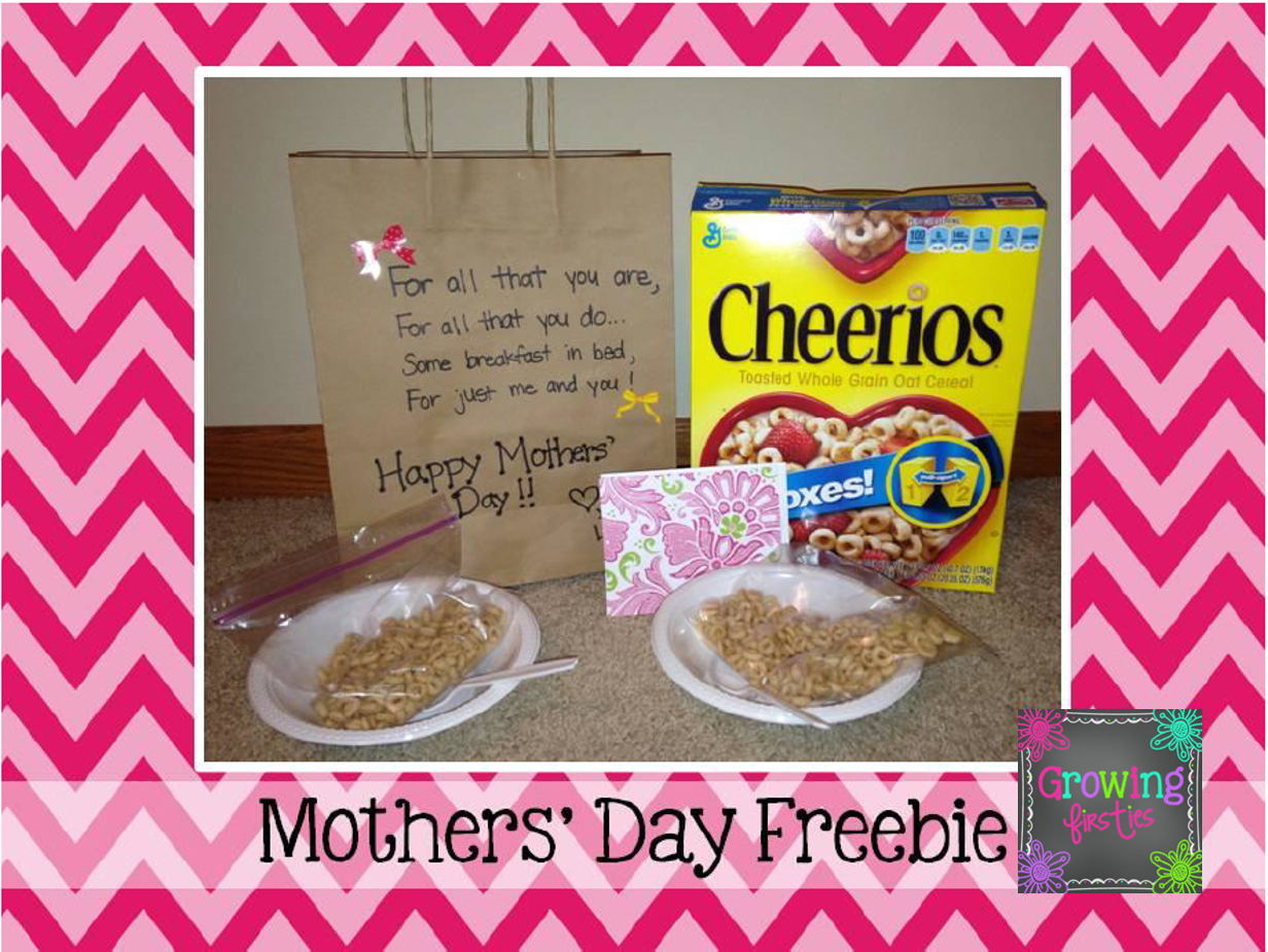 Mothers day freebie mini breakfast in bed growing firsties for Good ideas for mother s day breakfast in bed
