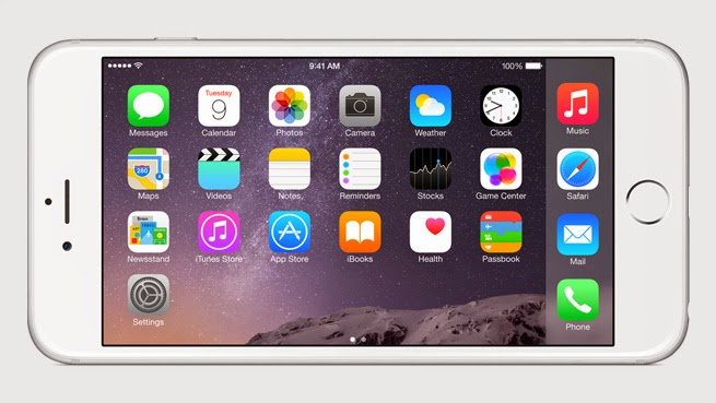 iPhone 6 plus horizontal